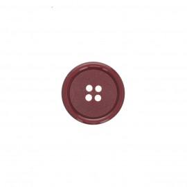 Plain galalith button - burgundy Gelo