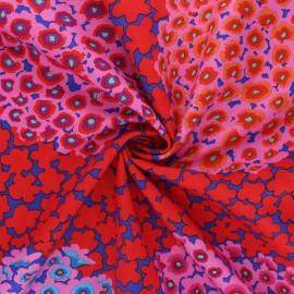 Kaffe Fassett cotton poplin fabric - red Hydrangea x 10cm