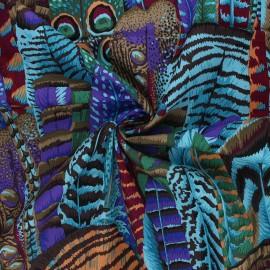 Tissu popeline de coton Kaffe Fassett Feathers - vert x 10cm