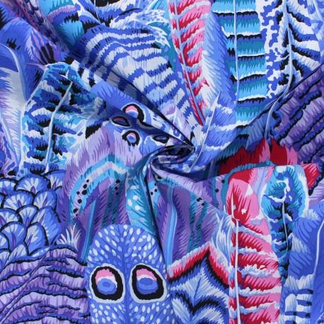 Kaffe Fassett cotton poplin fabric - purple Feathers x 10cm