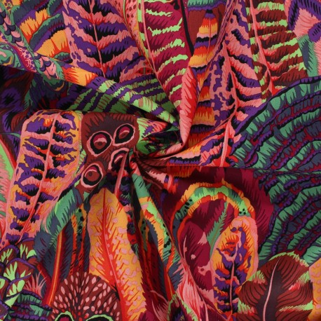 Kaffe Fassett cotton poplin fabric - orange Feathers x 10cm