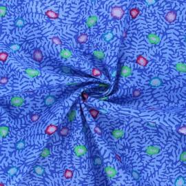 Tissu popeline de coton Kaffe Fassett Moss flower - bleu x 10cm