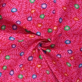 Kaffe Fassett cotton poplin fabric - pink Moss flower x 10cm