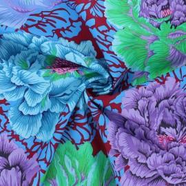 Kaffe Fassett cotton poplin fabric - burgunfy Brocade peony x 10cm