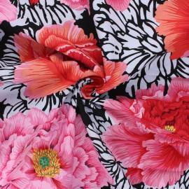 Kaffe Fassett cotton poplin fabric - black Brocade peony x 10cm