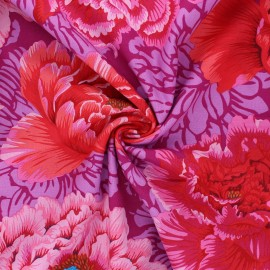 Kaffe Fassett cotton poplin fabric - purple Brocade peony x 10cm