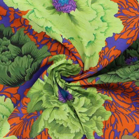 Kaffe Fassett cotton poplin fabric - dark purple Brocade peony x 10cm
