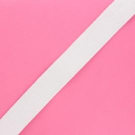 30 mm polyester lurex strap - white/silver x 1m