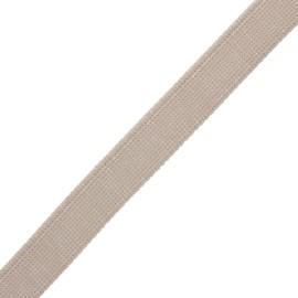 30 mm polyester lurex strap - sand/silver x 1m