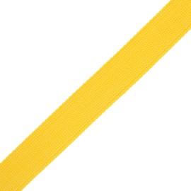 30 mm polyester lurex strap - yellow/silver x 1m