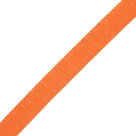 30 mm polyester lurex strap - orange/silver x 1m