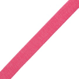 30 mm polyester lurex strap - pink/silver x 1m