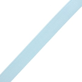 Sangle polyester lurex 30 mm - bleu ciel/argent x 1m