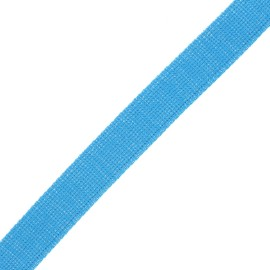 Sangle polyester lurex 30 mm - bleu/argent x 1m