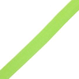 30 mm polyester lurex strap - green/silver x 1m