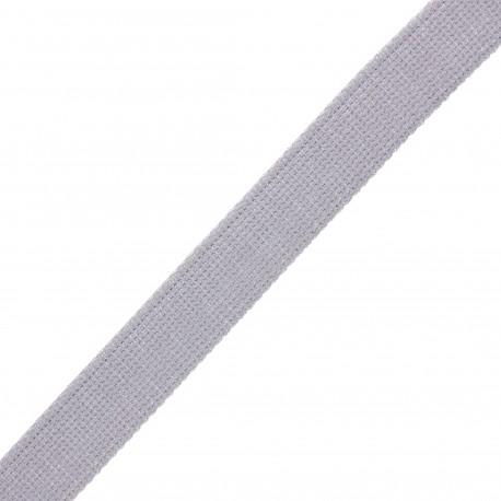 30 mm polyester lurex strap - mouse grey/silver x 1m