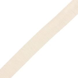 Sangle polyester lurex 30 mm - écru/doré x 1m