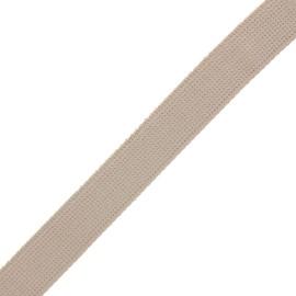 30 mm polyester lurex strap - sand/gold x 1m