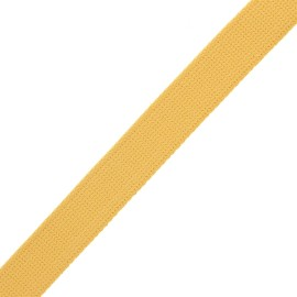 Sangle polyester lurex 30 mm - jaune moutarde/doré x 1m