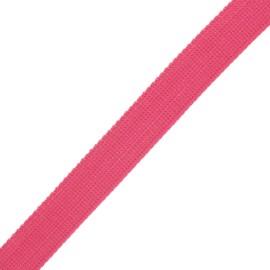 30 mm polyester lurex strap - pink/gold x 1m
