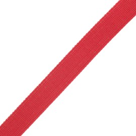 Sangle polyester lurex 30 mm - rouge/doré x 1m