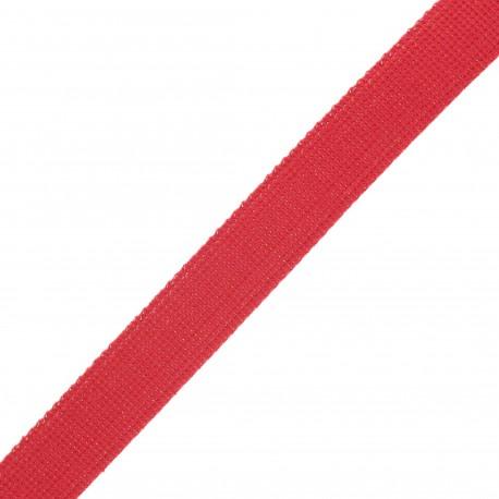 30 mm polyester lurex strap - red/gold x 1m