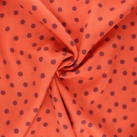 Viscose fabric - orange Nazaré x 10 cm