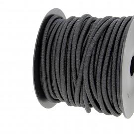 Cordon extérieur 6 mm - noir - bobine 25 m