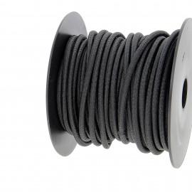 Cordon extérieur 5.2 mm - noir - bobine 25 m