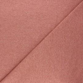 Tissu sweat léger uni - bois de rose chiné x 10cm
