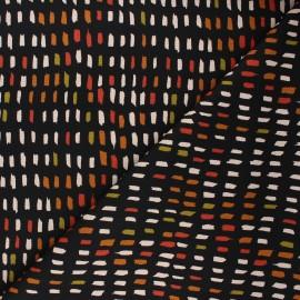 Poppy canvas cotton fabric - black Paint pallet x 10cm