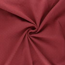 Wrinkled plumetis cotton voile fabric - terracotta x 10cm