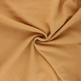 Wrinkled plumetis cotton voile fabric - honey x 10cm