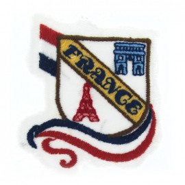 "♥ ""France"" emblem iron-on applique - multicolored ♥"