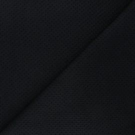 Openwork cotton voile fabric - black Octavia x 10cm