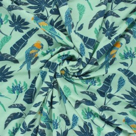 Tissu jersey bambou Amazone - menthe x 10cm