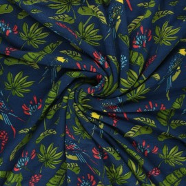 Jersey bamboo fabric - navy blue Amazone x 10cm