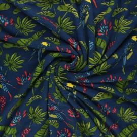 Tissu jersey bambou Amazone - bleu marine x 10cm