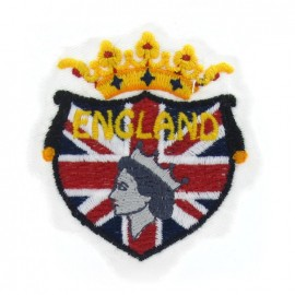 England emblem iron-on applique - multicolored
