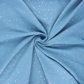 Tissu jersey Passion dot - bleu houle x 10cm