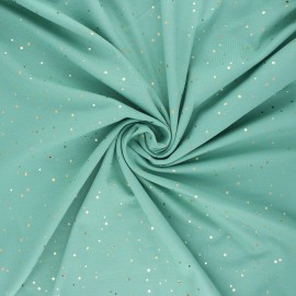 Printed Jersey fabric - green Passion dot x 10cm