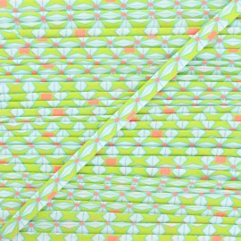 Biais Petit Pan 20 mm Helium - Lime x 1m