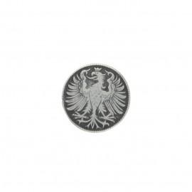 Metal button - silver Fussen