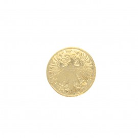 Metal button - golden Fussen