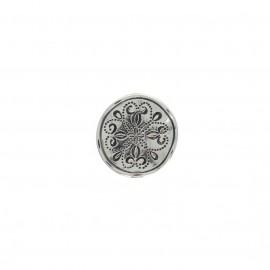 Metal button - silver Vergas