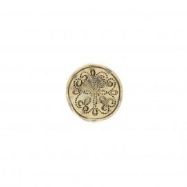 Metal button - golden Vergas