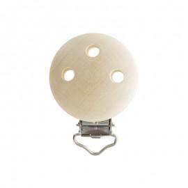 Wood dummy clip - natural beige