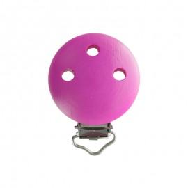 Wood dummy clip - fuchsia pink