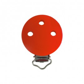 Clip attache tétine bois - rouge