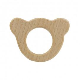 Anneau de dentition bois naturel Baby - Ours